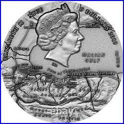 2019 2 Oz Silver $5 Niue LEONIDAS Thermopylae Great Commanders Antique Coin