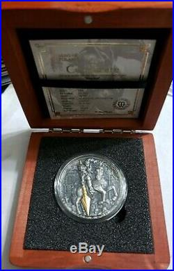 2019 2 Oz Silver $5 Niue ZHAO YUN Ancient Chinese Warrior Antique Finish Coin