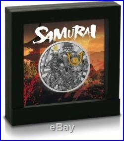 2019 2 Oz Silver Niue $2 SAMURAI Warriors Antique Finish Ultra High Relief Coin