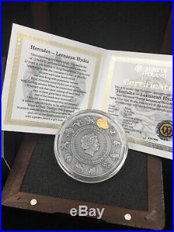 2019 2 Oz Silver Niue $5 TWELVE LABOURS OF HERCULES Lernaean Hydra Coin