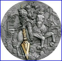2019 $5 Niue ZHAO YUN Ancient Chinese Warrior 2 Oz Silver Coin