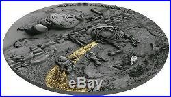 2019 Niue $1 SPACE MINING 2 Chondrite Meteorite 1 Oz Silver Coin
