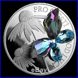 2019 Niue 1 oz Silver Crystal Coin Good Luck SKU#196041