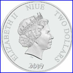 2019 Niue 1oz. 999 Fine Silver Proof Coin Tetris 35th Anniversary
