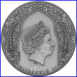 2019 Niue 2 oz Nizaris Assassin High Relief Antique Finish Silver Coin
