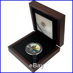 2019 Niue 2 oz Whydah Gally Grand Shipwrecks Colored High Relief Silver Coin
