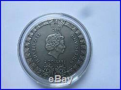 2019 Niue Island, 5$ AZTEC CALENDAR, 2 oz Silver Coin