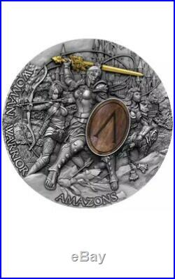 2019 Niue Island 5$ Woman Warrior Amazons 2oz Silver Coin presale