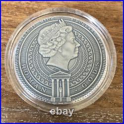 2019 Niue Island BELLONA Roman Gods 2oz Silver Antique Coin