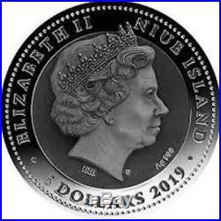 2019 Niue SAMURAI Warriors 2oz Silver Coin