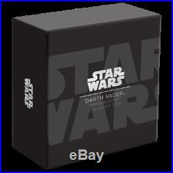 2019 Niue Star Wars Darth Vader 3D Helmet 2 oz. 999 Silver $5 Coin 5,000 Made