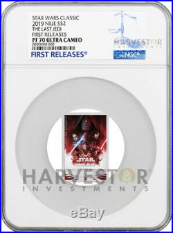 2019 Star Wars The Last Jedi Poster Coin Ngc Pf70 First Releases 8th In Set