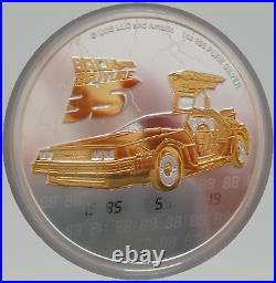 2020 24K Gilded Silver Holographic Number Back To The Future 1Oz Niue Edition