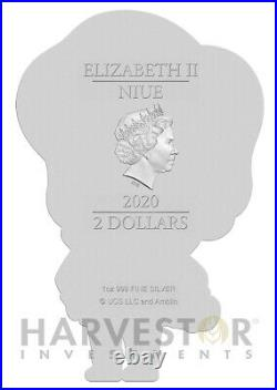 2020 Back To The Future Marty Mcfly 1 Oz. Silver Coin Ogp Coa Figure Coin