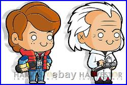 2020 Back To The Future Marty Mcfly & Doc Brown 1 Oz. Silver X 2 Figure Coins