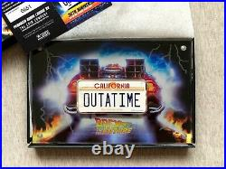 2020 Back to The Future 2oz Silver License Plate Coin Niue Perth Mint 651/750