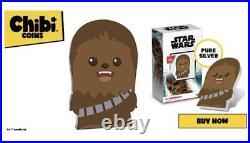 2020 Chibi Coin Star Wars Chewie Chewbacca 1 Oz Silver Apmex Flash Sale