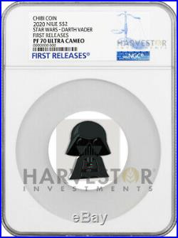 2020 Chibi Coin Star Wars Series Darth Vader Ngc Pf70 First Releases