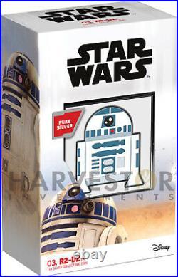 2020 Chibi Coin Star Wars Series R2-d2 1 Oz. Silver Coin Ogp Coa