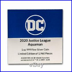 2020 Niue 1 oz Silver Coin $2 Justice League 60th Aquaman SKU#212267