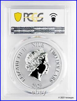 2020 Niue $2 Darth Vader 1oz Silver Coin PCGS MS70 First Day of Issue