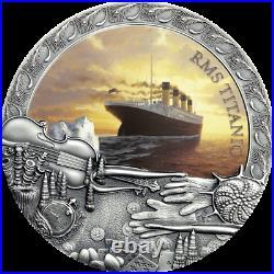 2020 Niue $5 Grand Shipwrecks of History Titanic 2 oz Silver Coin Mintage 500