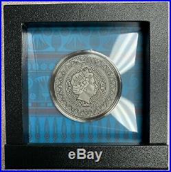2020 Niue $7 Egypt Queen Nefertiti 3 oz Silver Coin with Swarovski 500 Made