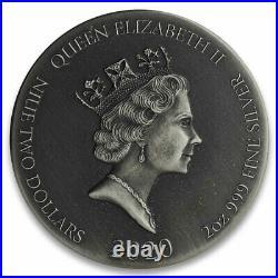 2020 Niue Biblical Coin Series Christ in Synagogue HR 2 oz Silver Antiqued