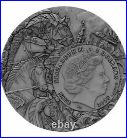 2020 Niue Black Horse Four Horsemen Of The Apocalypse 2oz Silver Coin NGC MS69