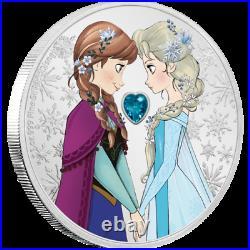 2020 Niue Disney Princess Frozen Anna & Elsa 1 oz Silver Coin NGC PF 70 UCAM