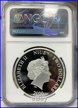 2020 Niue Disney Princess Tangled Rapunzel 1 oz Silver Proof Coin NGC PF 70
