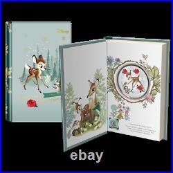 2020 Niue Disney Seasons Greetings Bambi & Thumper 1oz Silver Coin Christmas