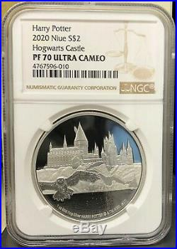 2020 Niue Harry Potter Hogwarts Castle 1 oz. 999 Silver Proof Coin NGC PF 70