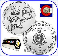 2020 Niue PAC-MAN 1 oz Silver $2 40th Anniversary Coin - roll/tube of 20 coins