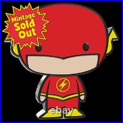 2020 Niue THE FLASH Chibi 1 oz Colorized Silver Proof Coin DC Justice League