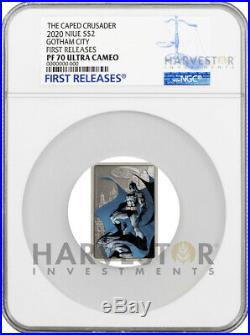 2020 The Caped Crusader Gotham City Poster Coin Ngc Pf70 First Releases