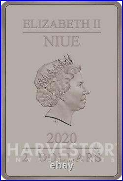 2020 The Caped Crusader The Kiss Poster Coin 1 Oz. Silver Coin Ogp Coa