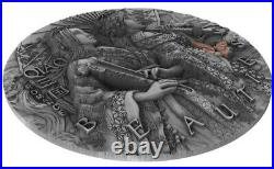 2021 2 Oz Silver $5 Niue Ascient Chinese Warrior Beautis QIAO Antique Coin