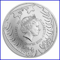 2021 5 OZ NIUE CZECH LION. 999 SILVER BU COIN Ships Free! Low Mint