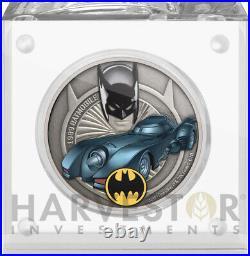 2021 Batmobile 1989 Batmobile 1 Oz. Silver Coin Batman Ogp Coa