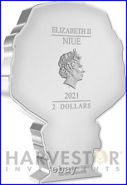 2021 Chibi Coin Halo Series Master Chief 1 Oz. Silver Coin Ogp Coa