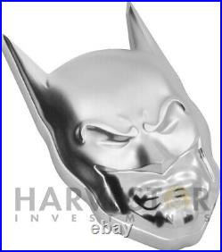 2021 DC Comics Batman Mask 2 Oz. Silver Coin High Relief Ogp Coa
