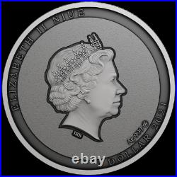 2021 Niue $1 Do You Know Me Green Mamba Snake 1/2 oz Silver Coin Mintage 1,000