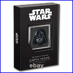 2021 Niue 1 oz Ag $2 Star Wars Faces of the Empire Darth Vader SHIPS FREE NOW