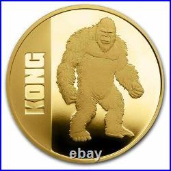 2021 Niue 1 oz Gold $250 Kong BU (withGift Tin & COA) SKU#228773