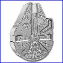 2021 Niue 1 oz Silver $2 Star Wars Millennium Falcon Shaped Coin SKU#235511