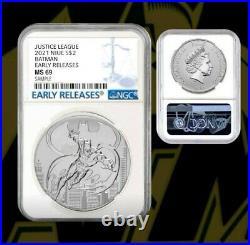 2021 Niue 1 oz Silver BATMAN $2 NGC MS69 ER DC Comics Justice LeaguePre-Sale