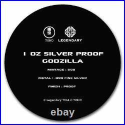 2021 Niue 1 oz Silver Proof $2 Godzilla (withGift Tin & COA) SKU#228702