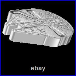 2021 Niue 1 oz Silver Star Wars Millennium Falcon Shaped Proof MINT SOLD OUT