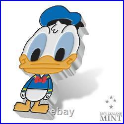 2021 Niue $2 Chibi Disney Donald Duck 1 oz Silver Proof Coin 2,000 Made